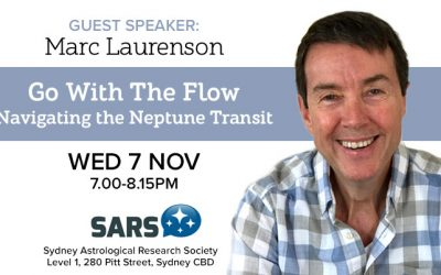 "Marc Laurenson's talk: ""Go With The Flow – Navigating The Neptune Transit."""