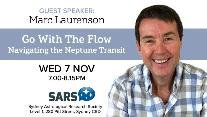 """Marc Laurenson's talk:""""Go With The Flow – Navigating The Neptune Transit."""""""